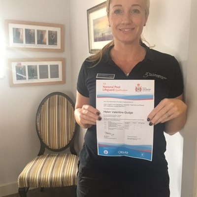 Helen passes her Lifeguarding qualification