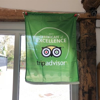 2017 Certificate of Excellence Award from TripAdvisor